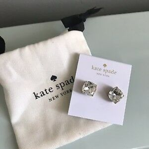 💯% AUTHENTIC KATE SPADE CRYSTAL SQUARE STUDS